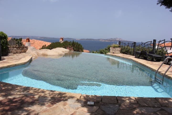 Villa with Fantastic Sea View, Pool, Air Conditioning and Garden; Garage Available