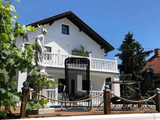 Stadtvilla an der Donau(ganzes Haus mit Pool)