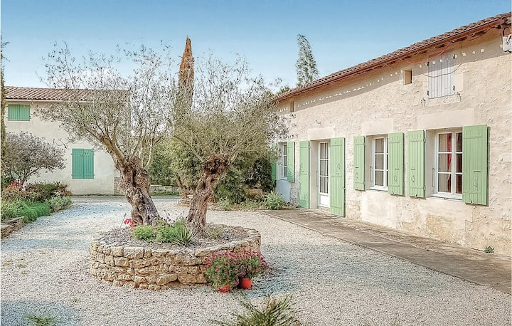 Nice home in Rioux with WiFi and 3 Bedrooms