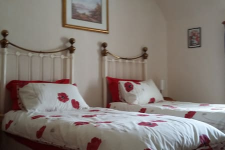 Twin-bed ensuite B&B room near Loch Ness - Drumnadrochit