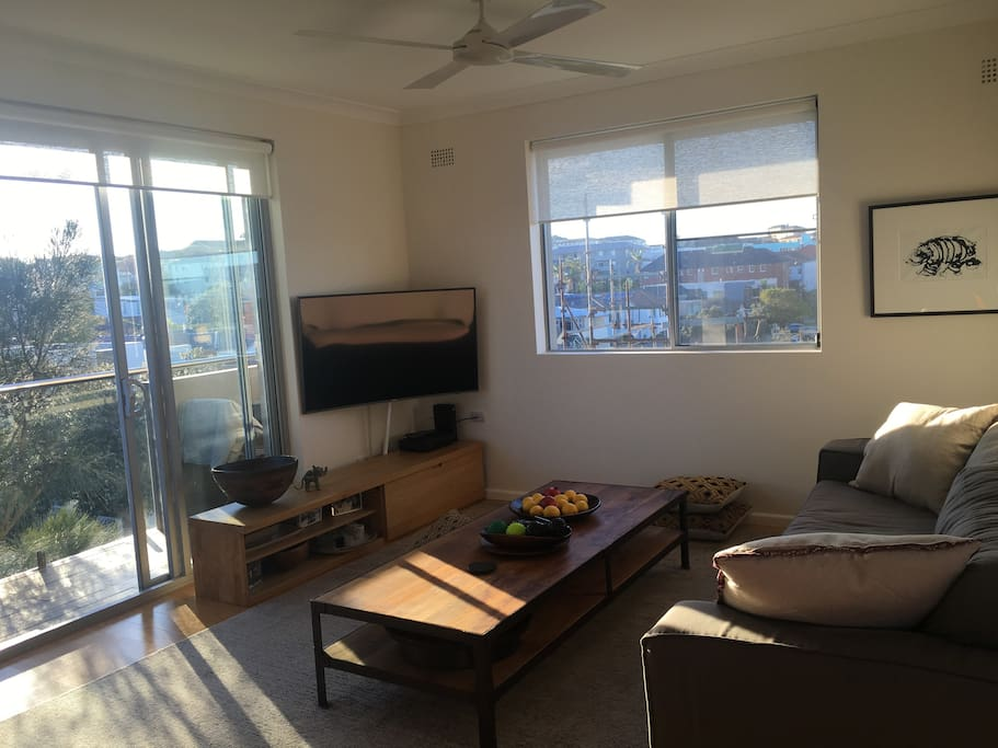 Surrounded with windows lets lots of light and the sea breeze in