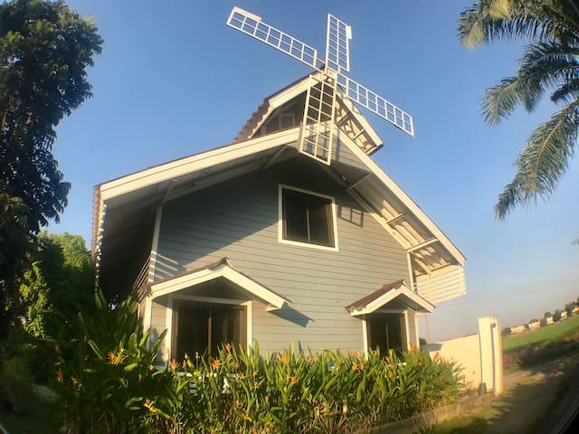 Windmill house, Thai authentic nature บ้านกังหัน 中文房东
