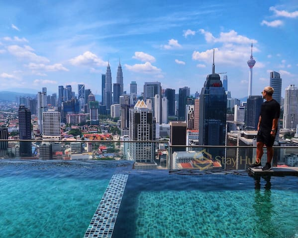 B3 Shared Home breathtaking KLCC view Pool 小清新无边泳池