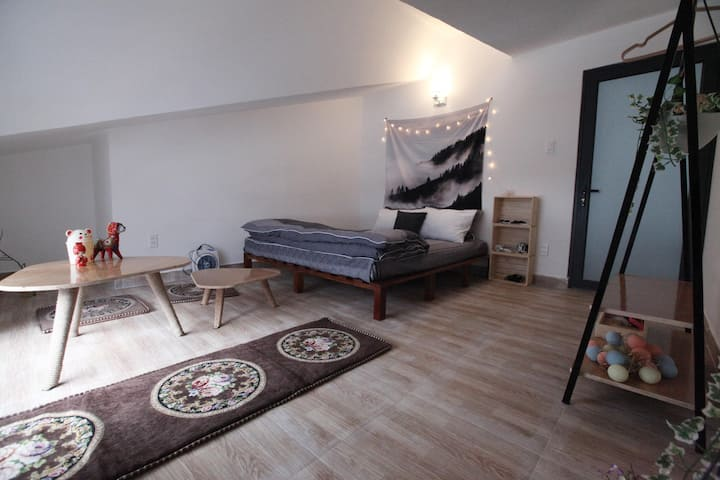 Spacious room for couple on a quite hill