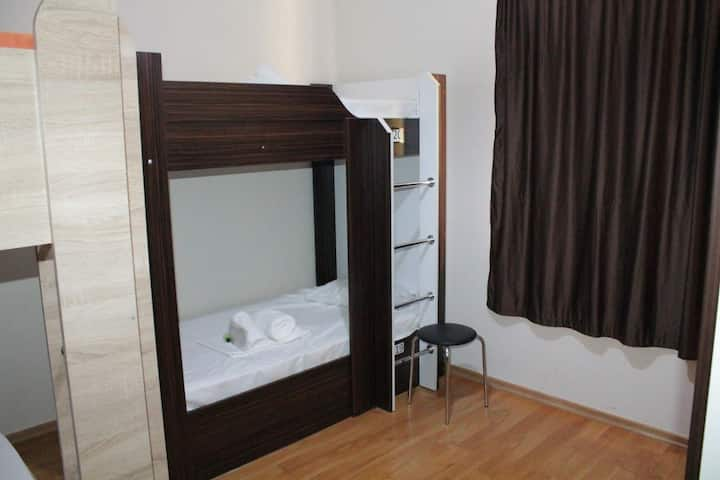 1 bed in 6bed dormitory room