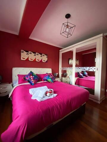 Habitación principal con cama de 1,50.