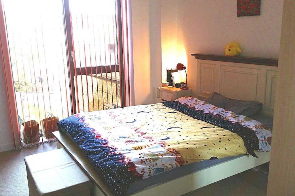 Spacious bright double bedroom
