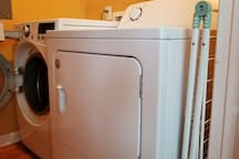 Washer, dryer and laundry rack for your delicates is in the house.