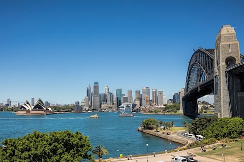Amazing views to Syd Harbour Bridge & Opera House