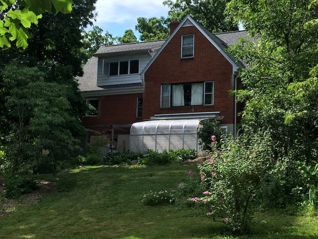 South side of house