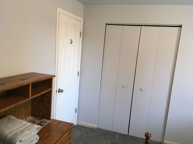 Room entrance and a closet for your convenience