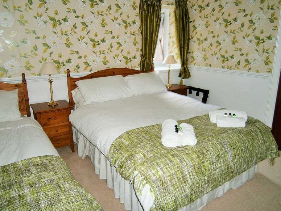 Family Room en suite. £85 per night based on 2 adults and 1 child under the age of 12. Breakfast included.