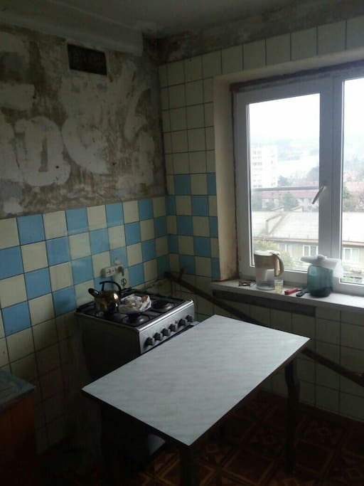 We do a repair in the flat, but now the kitchen looks like this. #3