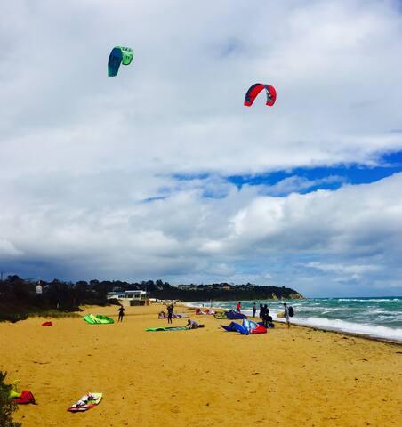 Kite Surfing Mount Martha Beach