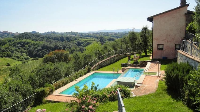 Cozy panoramic 4 pax apartment with pool - Le Selve - Apartment