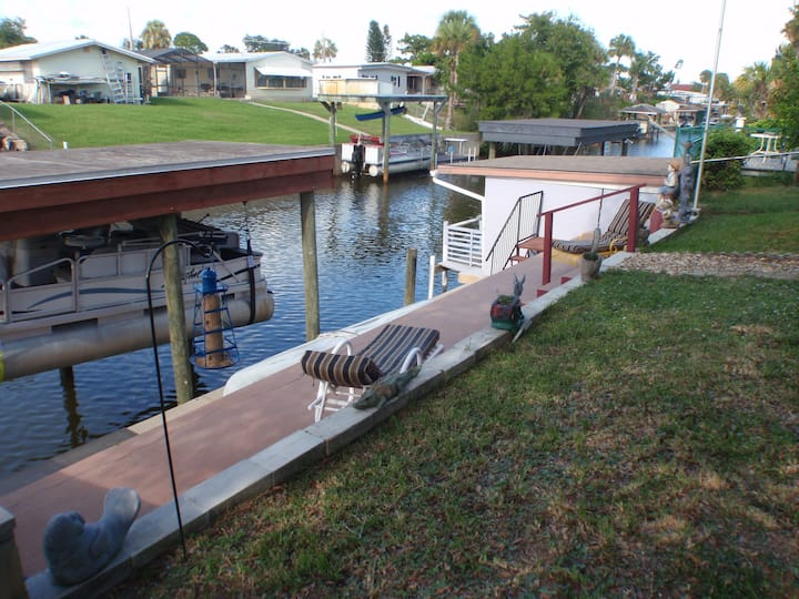 Private 3 Room Suite Canal Front Home w/ Boat Dock