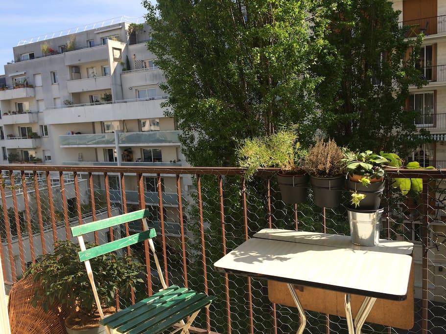 Balcon toute la longueur de l'appartement.