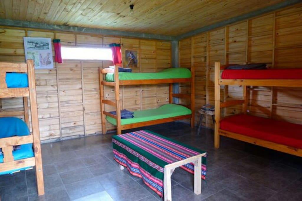 Habitación compartida para 6.