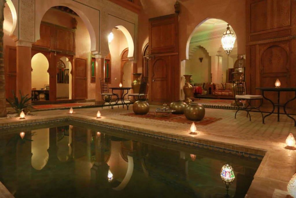 Riad Jnan Jdide M Dina Marrakech Piscine Spa S V