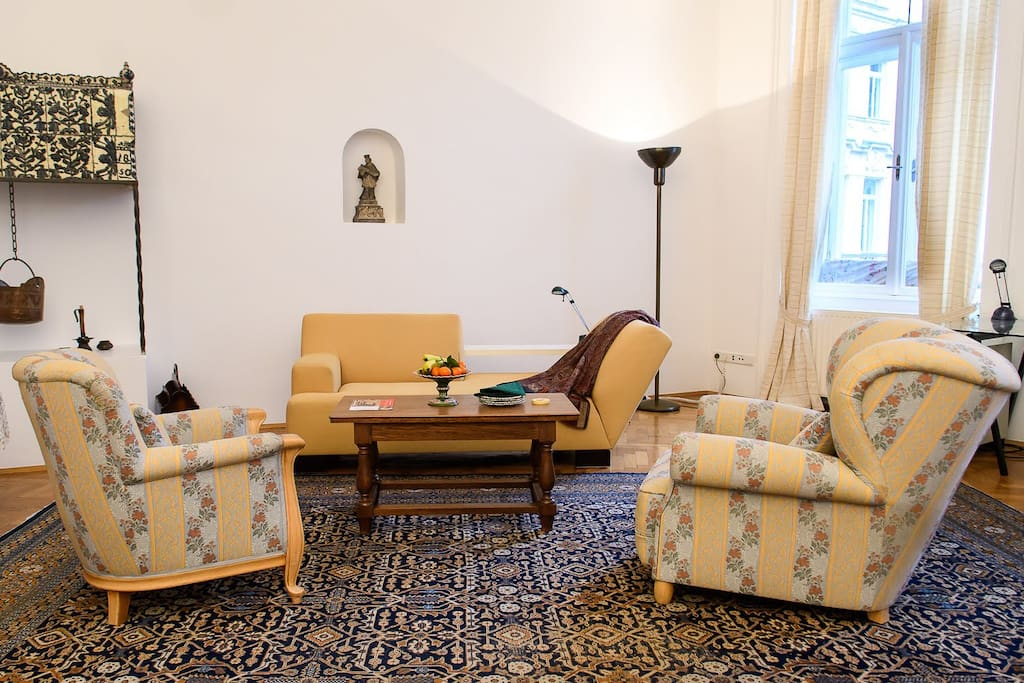 Living Room with antique but newly refurbished furniture!