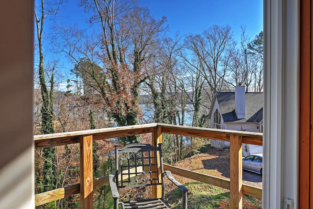 You'll love the incredible views from the back deck.