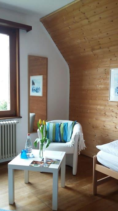 Sitzecke blaues Zimmer