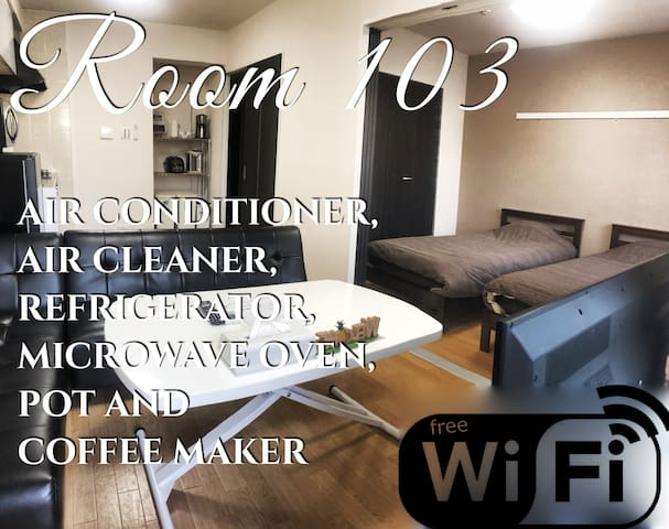 Room No.103 free wifi Naha  airport 40min