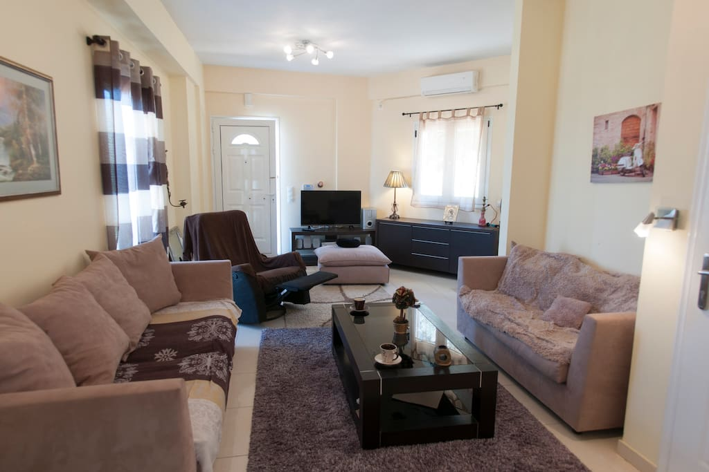 Maisonette Entrance and Common space - Living room with coach,sofa bed and lazy boy