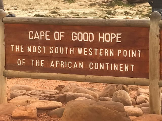 Cape of Good Hope the most South-western point on the African continent is a 40 minute drive away!
