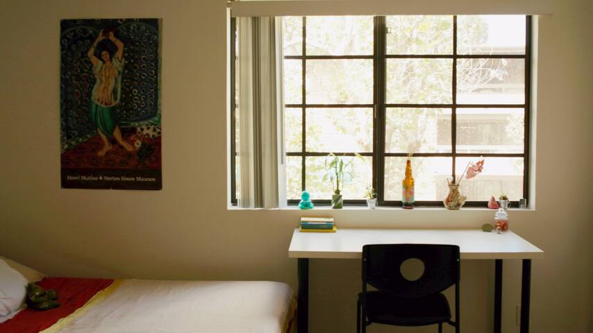 Blinds on every window from privacy when desired