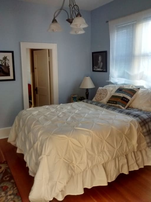 Brand new queen size bed in Blue Heron Room