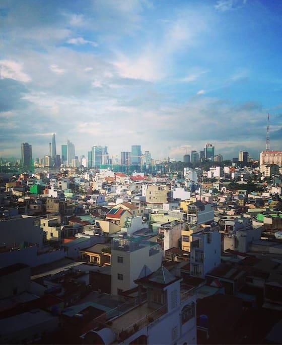 """""""Good morning, Saigon!"""" - Taken by my guest, Roke."""