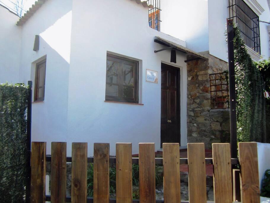 Fenced terrace