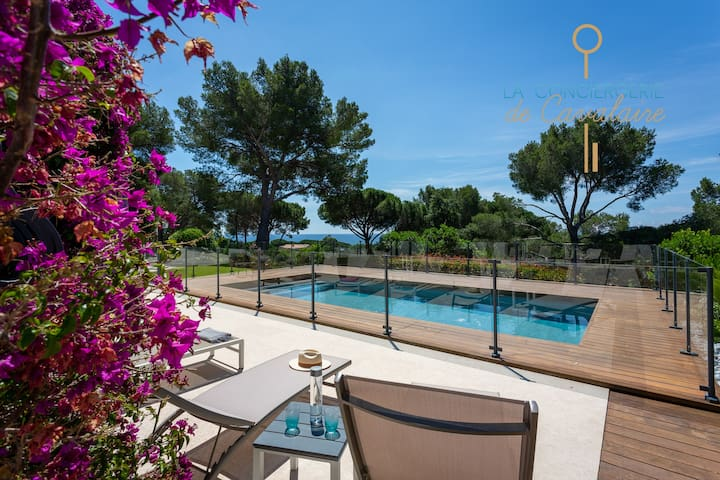 Villa Cantemare with swimmingpool and sea view