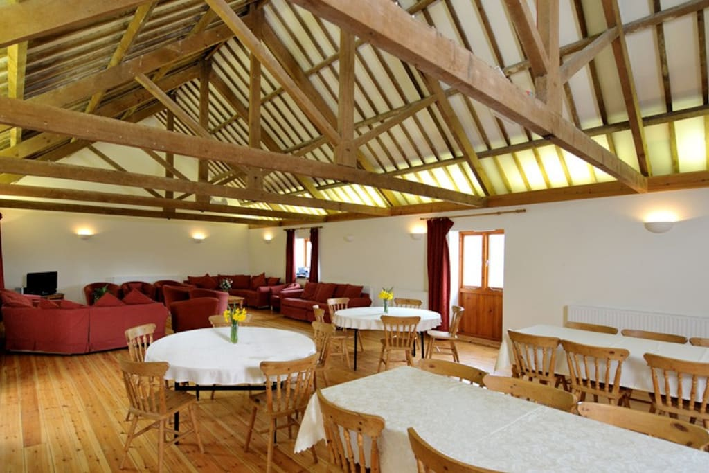Large main hall with ample room for all of my guests to dine together or in smaller groups, room to have a large group gathering, family get together, celebrations....