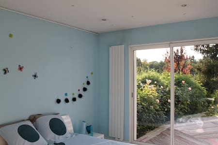 Chambre pour 2 personnes - chambre bleue - Tassin-la-Demi-Lune