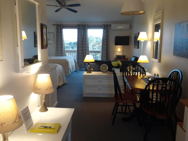 Unit #22 - 2nd Floor Deluxe Efficiency,  Private Deck with distant Bay Views
