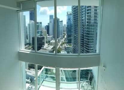Gorgeous Miami/Brickell Loft city/ocean views:) ;) - Miami - Apartamento