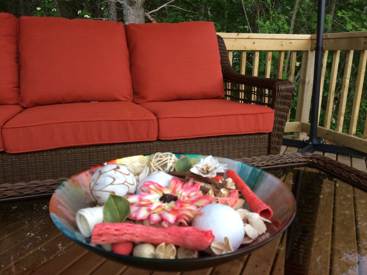 Impression picture of the deck patio set!