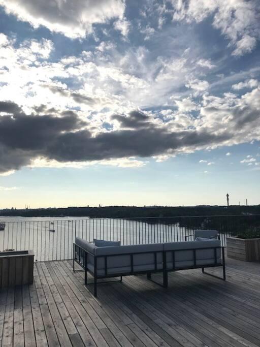 Rooftop terrace overlooking Stockholm City