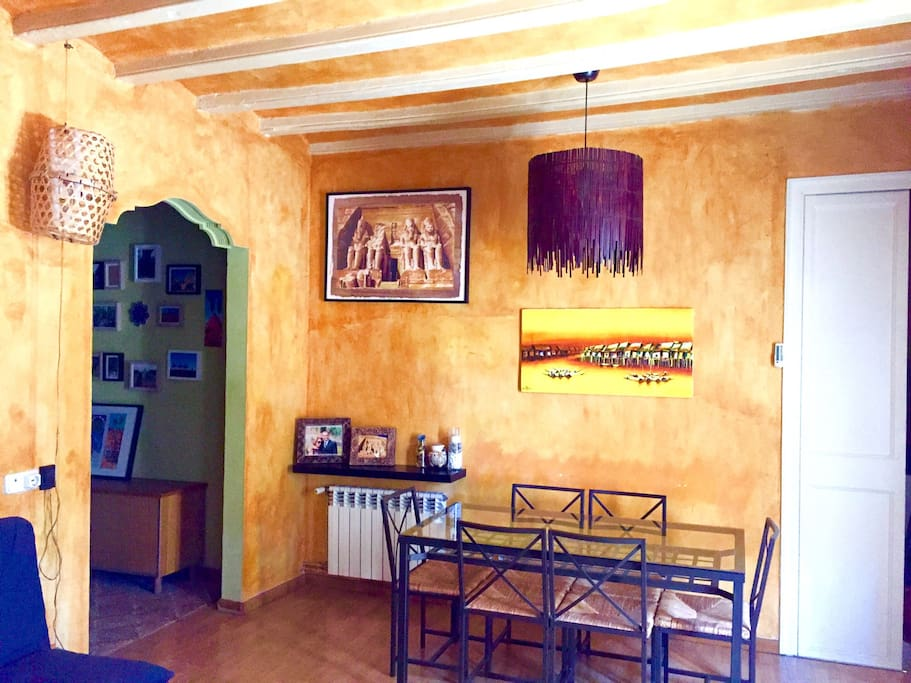 Ancient and renowned large living room with aircon