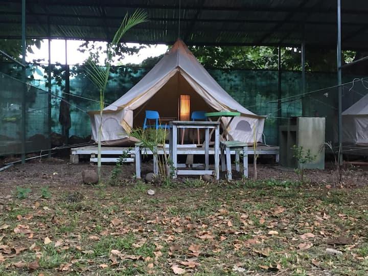Hospedaje  en la playa en camping