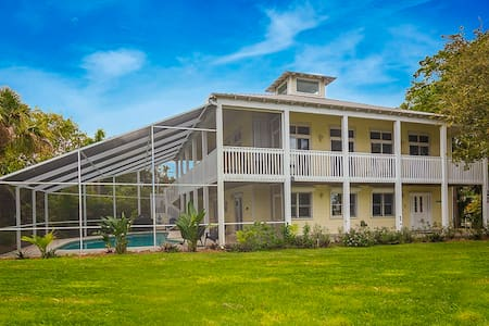 Tropical Key West Style Home with Heated Pool