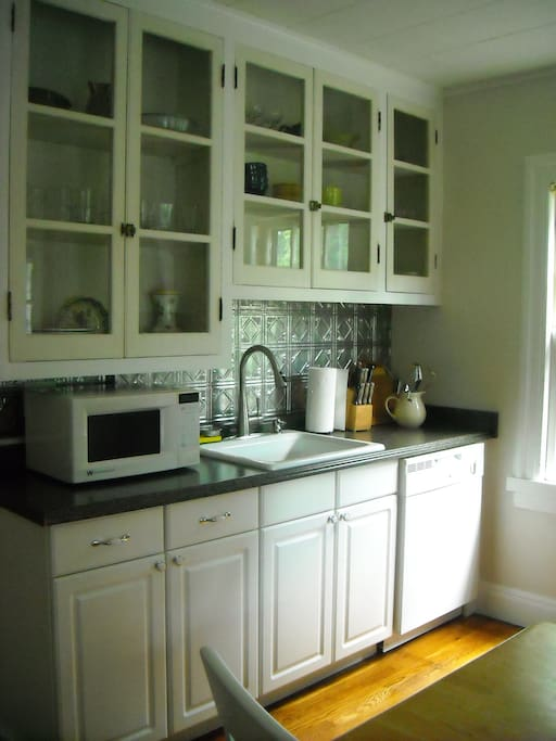 Updated kitchen with original 1930's cabinets