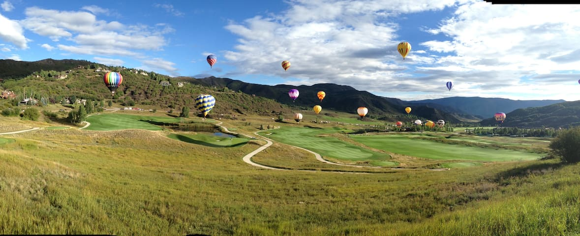 Across the road is the Snowmass Club Golf Course!