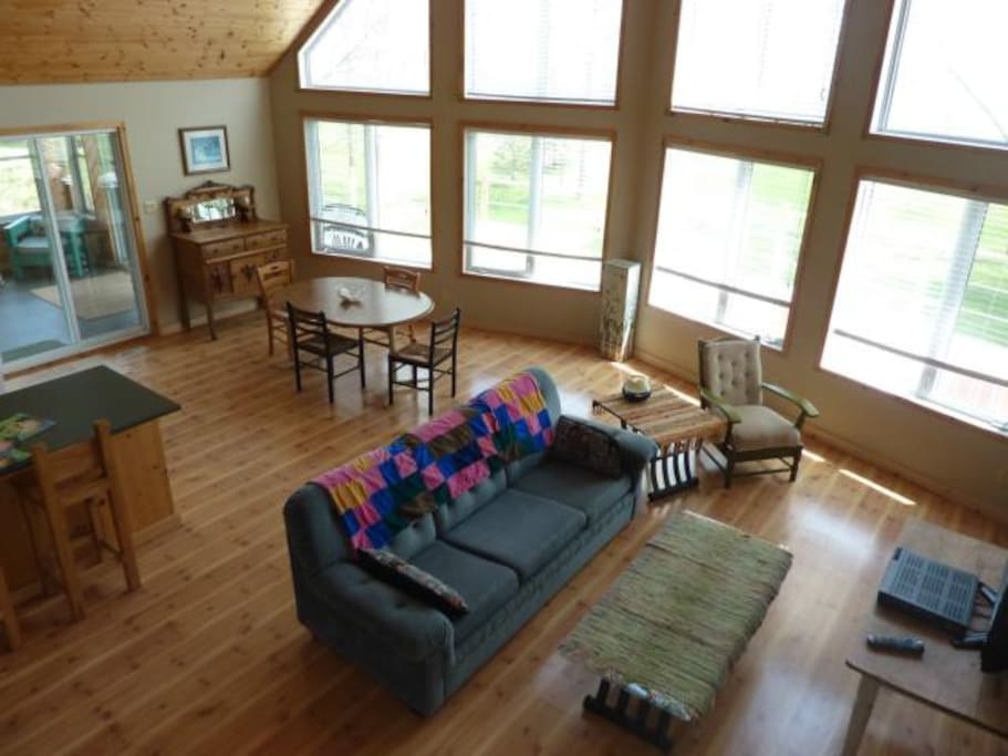 Front room with view of the lake.