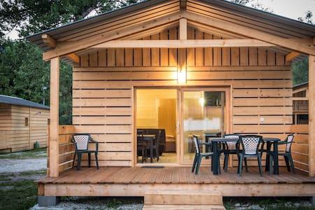 Chalet Confort 35 m2 avec vue Mt-Blanc - 萨朗什 (Sallanches) - 牧人小屋
