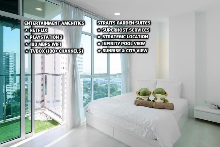 ★Couples Getaway XVI★ Cozy Suite Sleeps 1~4 | 城市套房