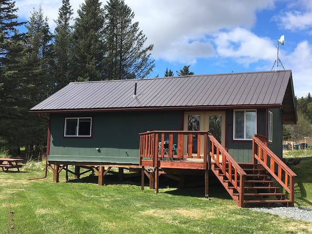 Kick up your feet and gaze at Grewink Glacier, or enjoy the sun and grill up your catch of the day on the beautiful new deck