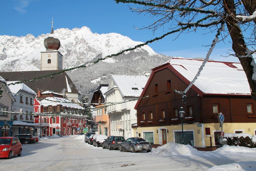 Haus Steiner im Winter